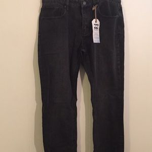 Black Billabong Straight Cut Jeans